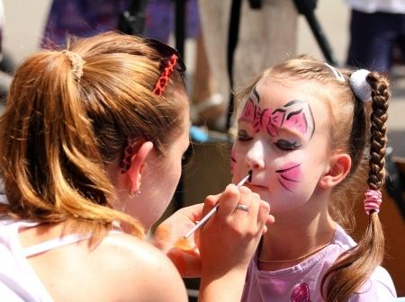 maquillage au marché des halles de Cholet