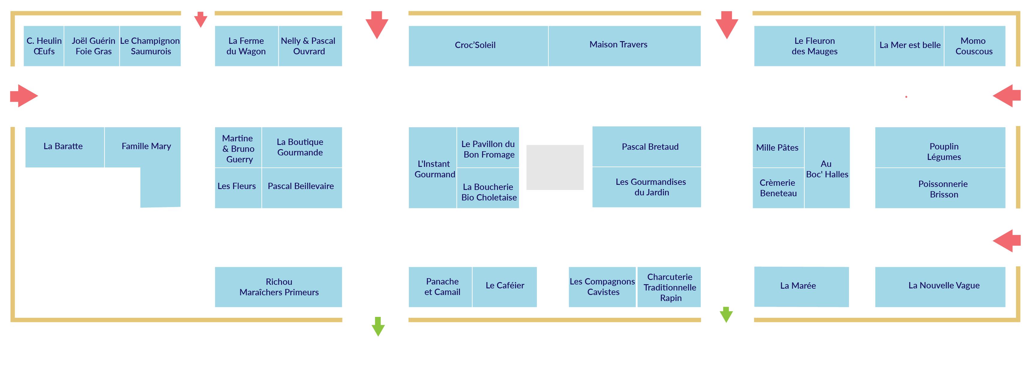 plan des Halles de Cholet